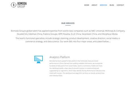 Screenshot of Services Page bomodagroup.com - Our Services   Bomoda Group - captured Nov. 4, 2014