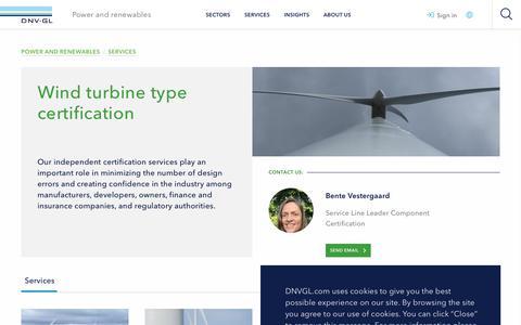 Screenshot of Services Page dnvgl.com - Type certification  - DNV GL - captured Dec. 7, 2019