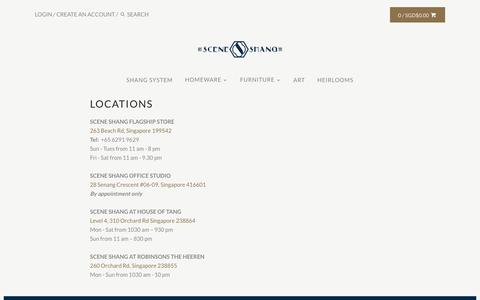 Screenshot of Locations Page sceneshang.com - SCENE SHANG Locations - captured March 4, 2017