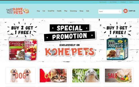 Screenshot of Home Page kohepets.com.sg - Promotion - Kohepets Singapore - captured Sept. 13, 2015