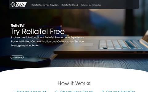 Screenshot of FAQ Page tonesoft.com - ReliaTel - Try it Free - captured Nov. 12, 2016