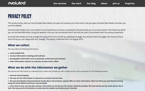 Evoluted New Media Privacy Policy