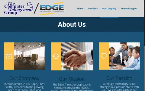 Screenshot of About Page Locations Page tcmgnet.com - Our Company - The Computer Management Group - captured July 3, 2018