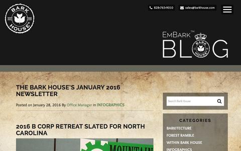 Screenshot of Blog barkhouse.com - EmBark Blog | Bark House - captured Jan. 29, 2016
