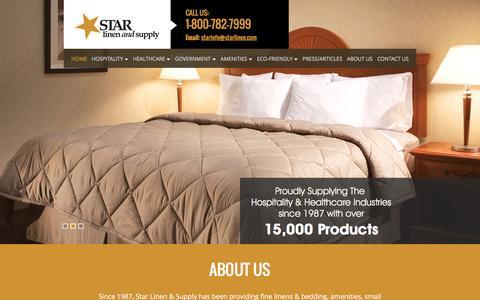 Screenshot of Home Page starlinen.com - Star Linen & Supply | Moorestown, NJ | Linen Supplier - captured Feb. 17, 2016