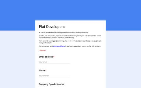 Screenshot of Developers Page google.com - Flat Developers - captured March 5, 2017