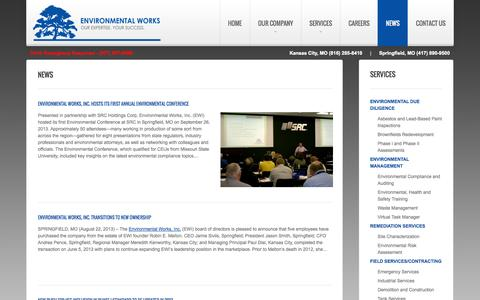 Screenshot of Press Page environmentalworks.com - Environmental Works   Our Expertise. Your Success. - captured Oct. 2, 2014