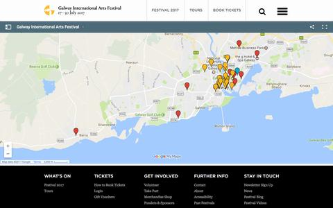 Screenshot of Maps & Directions Page giaf.ie - Festival Venue Map - Galway International Arts Festival 17 - 30 July 2017 - captured April 19, 2017