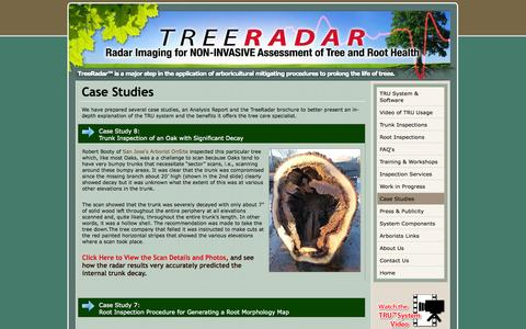 Screenshot of Case Studies Page treeradar.com - TreeRadar: Give Your Tree A Physical Exam - captured Oct. 7, 2014