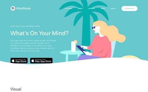Screenshot of Home Page mindnode.com - MindNode - MindNode - captured Aug. 9, 2019