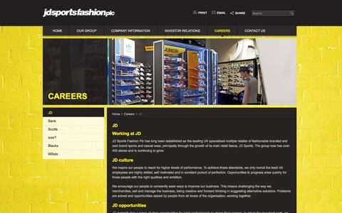 Screenshot of Jobs Page jdplc.com - JD – JD Sports Fashion plc - captured Sept. 23, 2014