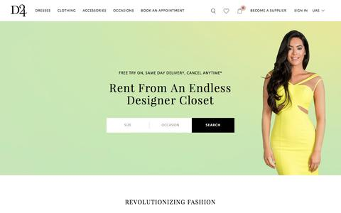 Screenshot of Home Page designer-24.com - Rent Designer Dresses, Bags & Accessories in Dubai - Designer-24 - captured Aug. 6, 2018