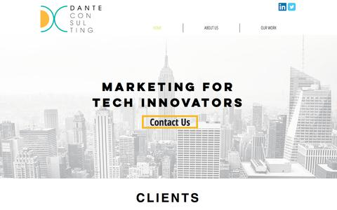 Screenshot of Home Page danteconsultinggroup.com - Tech Marketing | New York | Dante Consulting - captured June 3, 2017