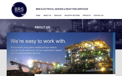 Screenshot of About Page brs-electrical.com.au - About Us - BRS Electrical Design & Drafting Services - captured Sept. 30, 2014