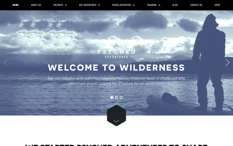 Screenshot of Home Page psyched-adventures.com - Psyched Adventures - captured May 27, 2016