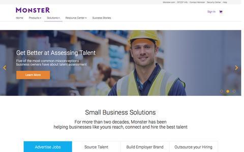 Small & Medium Business Recruitment Solutions | Monster