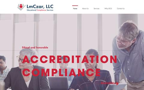 Screenshot of Home Page educationalcomplianceservices.com - Placement Verification Services   LmCzar - captured July 16, 2018