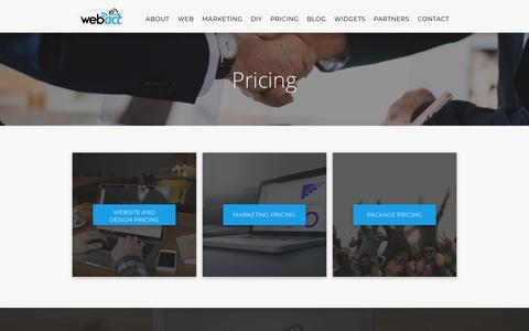 Screenshot of Pricing Page webact.com - WebAct Pricing - captured Oct. 6, 2018