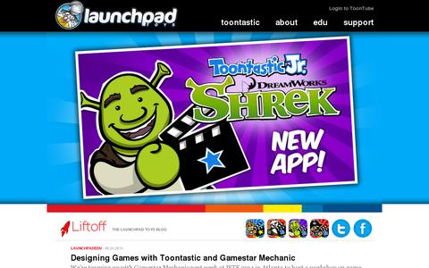 Screenshot of Home Page launchpadtoys.com - Creativity at Play | Launchpad Toys - captured July 11, 2014