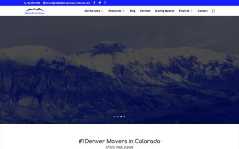 Screenshot of Home Page altitudemoversdenver.com - Denver Movers   Moving Company in Denver   Altitude - captured July 25, 2016