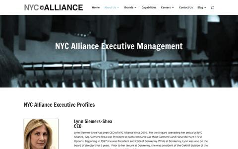 Screenshot of Team Page nycalliance.com - Management | NYC Alliance - captured Jan. 11, 2016