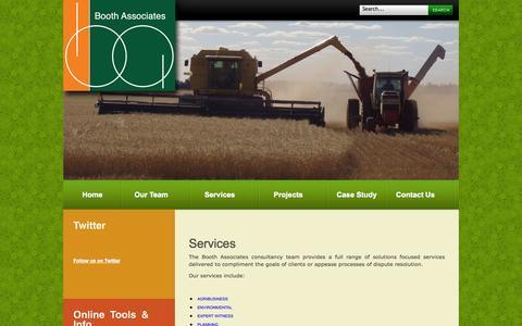 Screenshot of Services Page boothassociates.com.au - Services - captured Sept. 30, 2014
