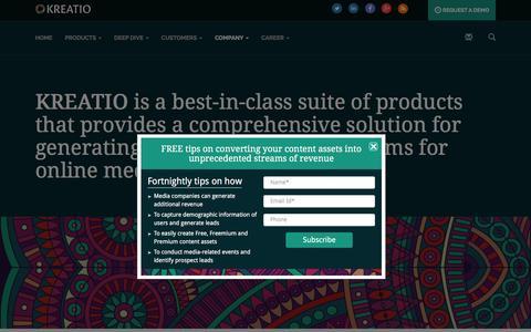 Screenshot of Team Page kreatio.com - Kreatio- Management - captured Feb. 12, 2016