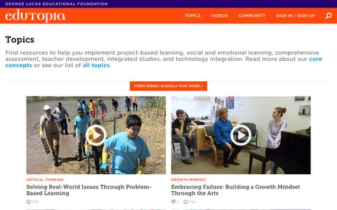 K-12 Topics, Subjects & Grade-Level Resources | Edutopia