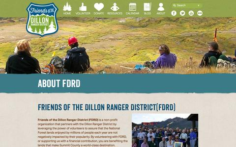 Screenshot of About Page fdrd.org - Friends of the Dillon Ranger District :: About - captured Nov. 3, 2014