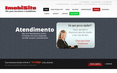 Screenshot of Home Page imobisite.com.br - ImobiSite - Site para Imobiliária | Site para Corretor de Imóveis - captured Oct. 25, 2018