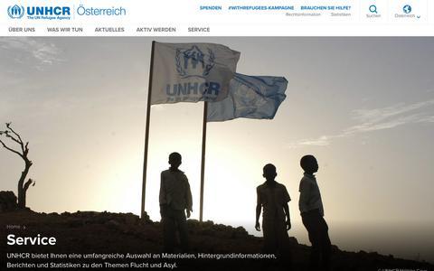 Screenshot of Services Page unhcr.org - Service - UNHCR DACH - captured Nov. 23, 2018