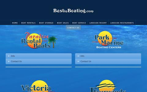 Screenshot of Contact Page bestinboating.com - Contact Us | Best In Boating | Lake Lanier, Allatoona & Monroe - captured Feb. 7, 2018