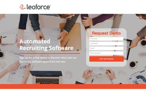 Screenshot of Contact Page leoforce.com - LeoForce Applicant Tracking System - captured March 1, 2016