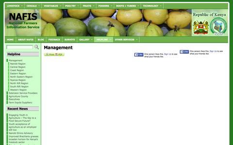 Screenshot of Team Page nafis.go.ke - Management   NAFIS - captured March 17, 2016