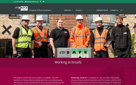 Screenshot of Jobs Page ensafe.co.uk - Working at Ensafe - Ensafe - captured Aug. 9, 2017