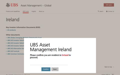 Screenshot of Team Page ubs.com - Ireland | UBS Global topics - captured Nov. 14, 2019