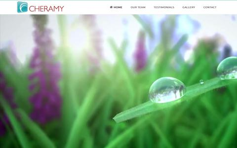 Screenshot of Home Page cheramycreative.com - Cheramy Story Arts and Marketing - captured Sept. 27, 2018