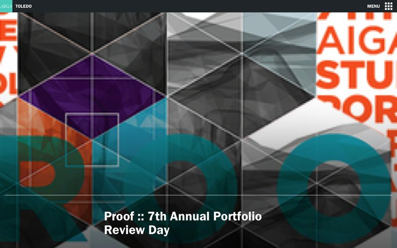Proof :: 7th Annual Portfolio Review Day | AIGA Toledo