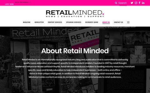 Screenshot of About Page retailminded.com - About Retail Minded - captured Nov. 19, 2018