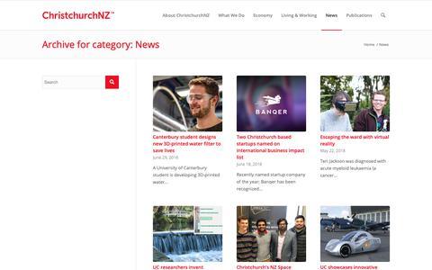 Screenshot of Press Page cdc.org.nz - News - captured Sept. 26, 2018