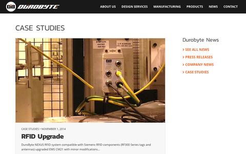 Screenshot of Case Studies Page durobyte.com - Case Studies Archives – DuroByte Inc. - captured Nov. 24, 2016