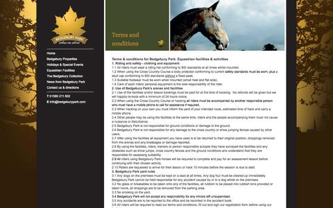 Screenshot of Terms Page bedgeburypark.com - - Bedgebury Park - captured Sept. 30, 2014
