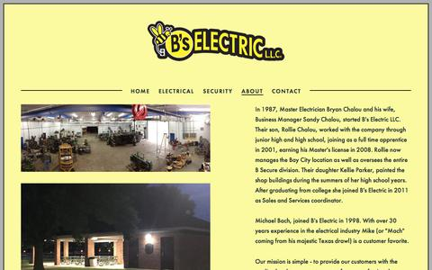 Screenshot of About Page bselectricllc.com - About — B's Electric L.L.C. - captured July 17, 2018