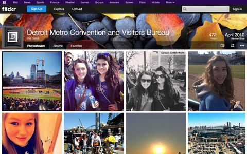 Screenshot of Flickr Page flickr.com - Flickr: Visit Detroit's Photostream - captured Oct. 23, 2014