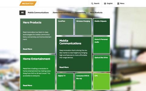 Screenshot of Products Page mediatek.com - Products - MediaTek - captured Nov. 3, 2014