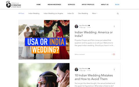 Screenshot of Blog sodjla.com - Indian Weddings | USA | SODJLA.com - captured Dec. 7, 2018