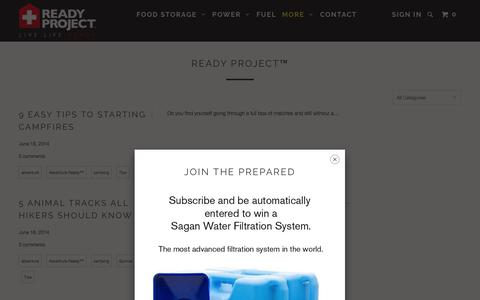 Screenshot of Blog readyproject.com - Ready Project - Ready Project ® - captured Sept. 1, 2017