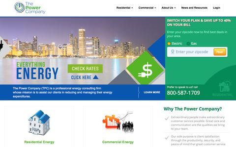 Screenshot of Home Page thepowercompany.com - Home Page - The Power Company - captured Nov. 16, 2017
