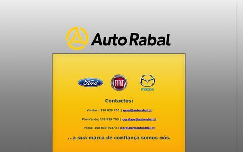 Screenshot of Home Page autorabal.pt - Autorabal // Ford | Mazda | Fiat | Viana Chapa - captured Oct. 4, 2014