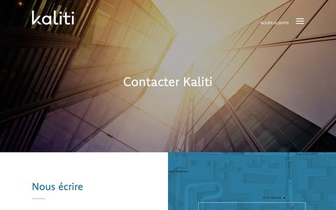 Screenshot of Contact Page kaliti.fr - AmŽliorer la gestion des rŽserves OPR en nous contactant   Kaliti - captured Jan. 9, 2016